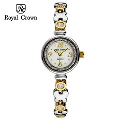 Ảnh số 58: Royal crown watches bracelet watch fashion gold steel ladies watch 6401 - Giá: 1.560.000