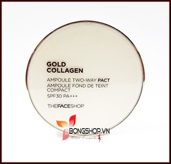 Ảnh số 24: Phấn Gold Collagen Ampoule Two-way Pact The Face Shop - Giá: 380.000