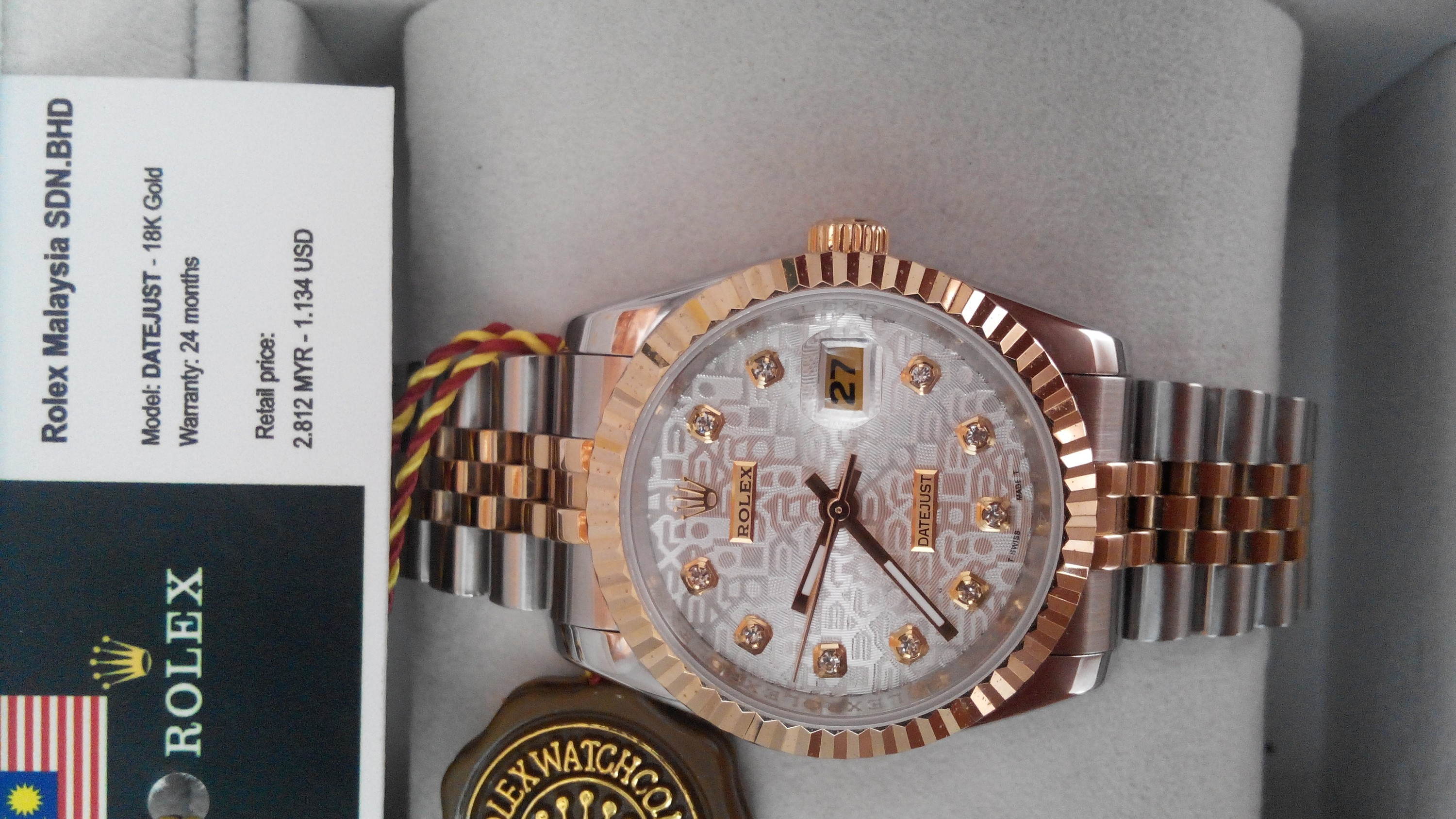 Dho deo tay Rolex xach tay Malaysia new full box gia 917 giam con 325